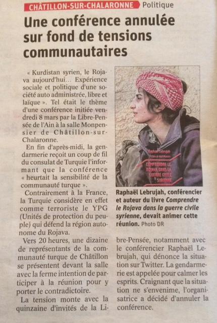 article du journal LE PROGRES du 14 mars