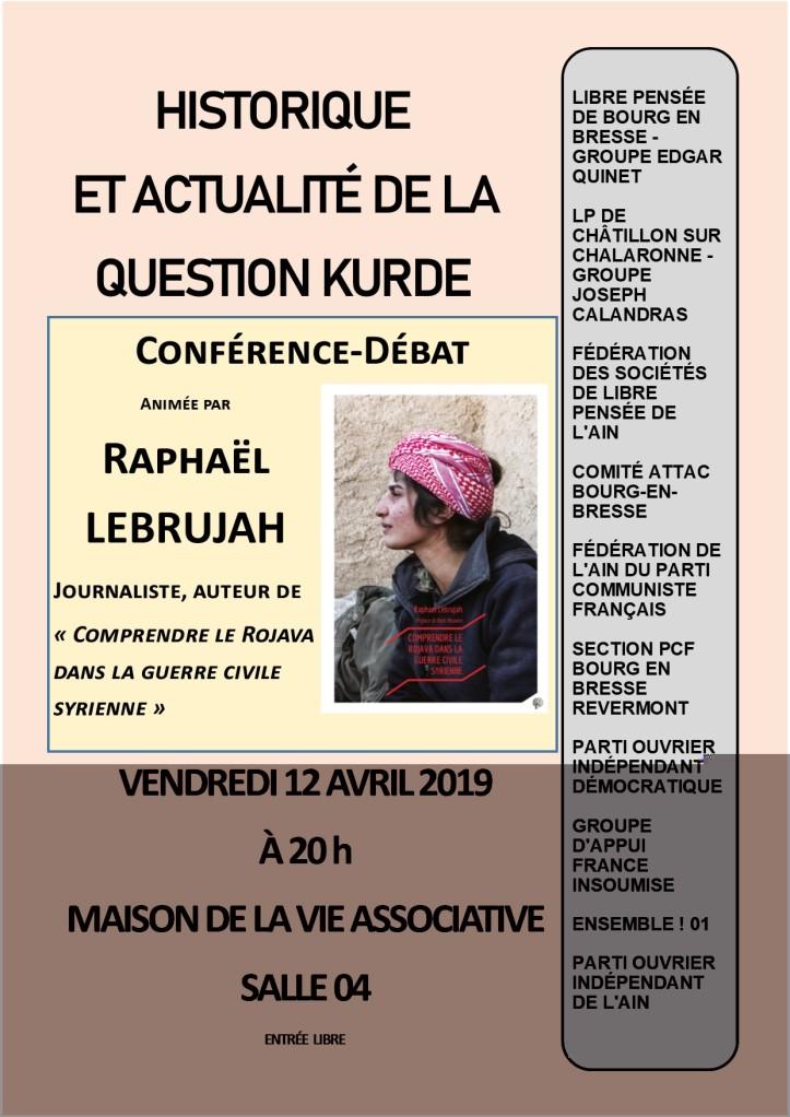 Vendredi 12 avril Raphaël LEBRUJAH